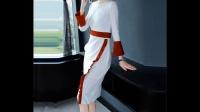 新款长袖连衣裙收腰名媛气质修身显瘦中长款女装