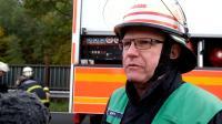 LKW Unfall auf der BAB 253  Fahrer eingeklemmt (20161027)