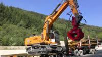RC遥控利勃海尔970挖掘机装卸木材割草