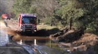 12 blusvoertuigen ingezet bij grote natuurbrandoefening Edese Heide