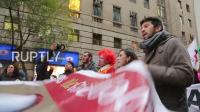 Chile- Water cannon, tear gas disperse protesters contending