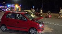 FRONTALCRASH  18-jähriger eingeklemmt (schwer verletzt)