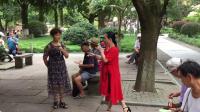 20180828,中山公园《越剧梁祝》十八相送,小顾与何秀琴演唱,甬闻录制。