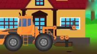 亲子:儿童玩具 推土机 挖土机 神奇的工程车 挖掘机表演视频