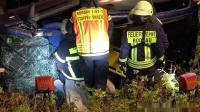 Verkehrsunfall mehrere eingeklemmte Personen Abschlussübung FF Rodgau Mitte