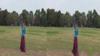 雪冰青春活力广场原创蒙古舞《呼伦贝尔大草原》编舞雪冰;正背演示;雪冰