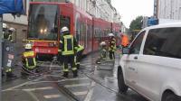 Straßenbahn entgleist - Durch Feuerwehr eingegleist am Bonner HBF am 23.09.2018