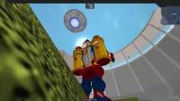 【屌德斯&小熙】 Roblox灾难生存模拟器 全新装备火箭背包飞向宇宙_超清