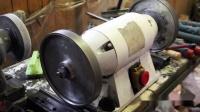 【愚拙手工】木旋设备调试视频 砂轮机砂轮片安装测试