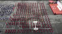 哈八十一中学团体操表演