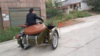 老长江750摩托车亮光军黄展示
