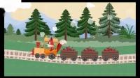 小狐狸火车冒险乐趣宠物护理狐狸和羊儿童火车轨道游戏