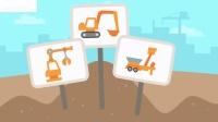 西米迷你卡车和挖掘机卡通游戏儿童乐趣建造幻想西米宠物房子和学习卡车