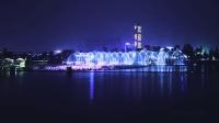 2018古镇灯光节    音乐喷泉