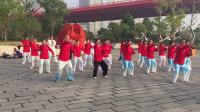 汉阳江滩梦之队在队长王传桥的带领下全体晨练竞赛套路八法五步2018-10-23