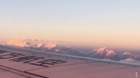 喜马拉雅山日落