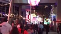 女生鬼屋尖叫搞笑之旅+夜景美国环球影城万圣节