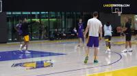 Lakers Practice- LeBron & Lonzo vs Svi & Rondo vs Coach Miles & BShaw Shooting C