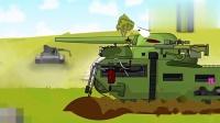 坦克世界动画 炮弹从天而降,每次受伤害的都是我!