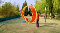 五彩空竹舞龙队,文与君在练习飘龙
