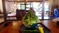 日本街头美食,抹茶红豆沙冰