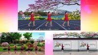 苏北君子兰广场舞系列--355--花城姑娘(异地姐妹合屏)--编舞制作骄阳舞韵