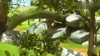 迷你特工队:巨大的蝎子皮欧欺负森林小动物,下一步攻击迷你特工!