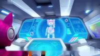 迷你特工队:机器熊速度和力量太厉害了,塞米集中能量发射导弹!