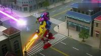 迷你特工队:迷你特工铤而走险,把剩余能量用到必杀打败机械装甲!