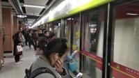 广州地铁广佛线小红帽在南洲往新城东方向进站