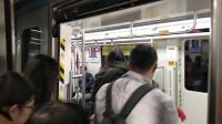 广州地铁14号线蓝莓在从化客运站往广州火车站方向进站