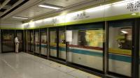 广州地铁广佛线小蓝帽在沥滘往终点站方向进站