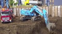RC遥控斯堪尼亚奔驰卡车小松利勃海尔挖掘机