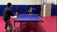 乒乓球的专业训练,这削球真的太飘逸了