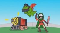 皇室战争动画之超级骑士的真面目