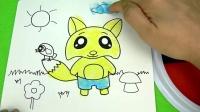 喜羊羊美羊羊七彩小狐狸手指画儿童绘本