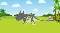 小狐狸挖掘恐龙化石 认知恐龙游戏