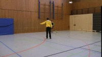 手球训练 边锋球员位置训练