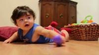 欢快视频记录七个月宝宝半天的生活,侧面讲述了全职妈妈的辛苦!