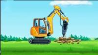 工程车攒石头游戏