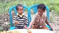 乡村美食:孟加拉主妇做扁豆,你们那管这豆子叫啥名啊?