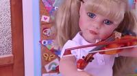 美国娃娃的日常生活,带上小提琴去上学