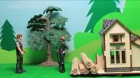 育儿早教:汪汪队天天化身人鱼狗,和路马一起运送木材,玩具故事