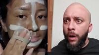 表情包:老外看亚洲四大邪术-中国女生化妆的爆笑反应哈哈哈哈哈哈哈哈哈