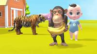 儿童卡通片:小朋友给大笨象喂西瓜