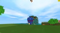 迷你世界小缺生存358:我与小缺来到天池宝藏,一下回到解放前!