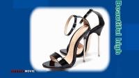 美丽高跟鞋一字扣带(19-01)Beautiful high heels