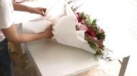 花艺插花视频教程韩式花束DIY巨型花束包装大花束包装花束包装1