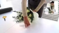 花艺插花视频教程韩式花束鲜花包装技巧10朵玫瑰花束1