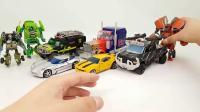 博派变形金刚擎天柱大黄蜂汽车机器人模型玩具
